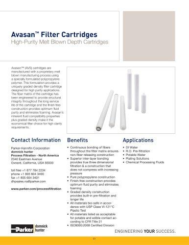 Avasan Filter Cartridges