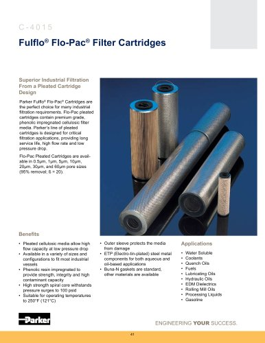 Fulflo Flo-Pac Filter Cartridges