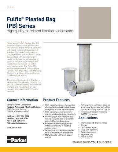 Fulflo Pleated Bag (PB) Series