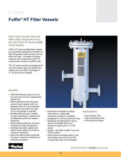 Housings - Fulflo HT Filter Vessels