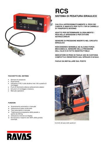 RCS: sistemi di pesatura per il montaggio su carrelli elevatori