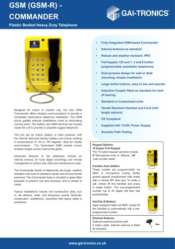 Commander GSM (GSM-R)