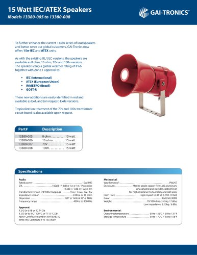 Models 13380-005 to 13380-008