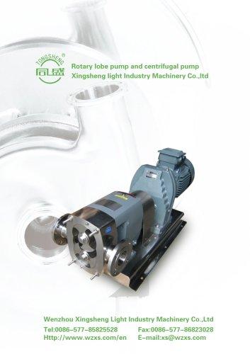 rotary lobe pump and centrifugal pump catalogue