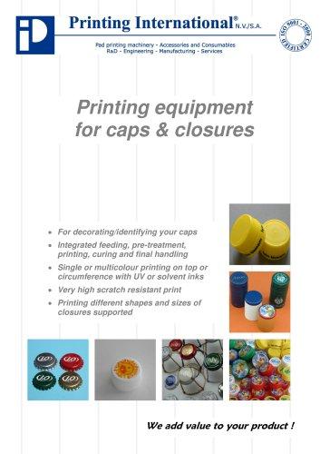 Caps & Closures printing equipment