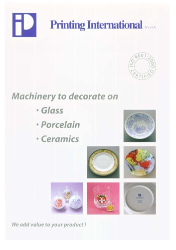 Machinery to decorate on Glass, Porcelain & Ceramics