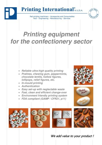 Printing equipment  for the confectionery sector