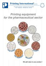 Printing equipment  for the pharmaceutical sector