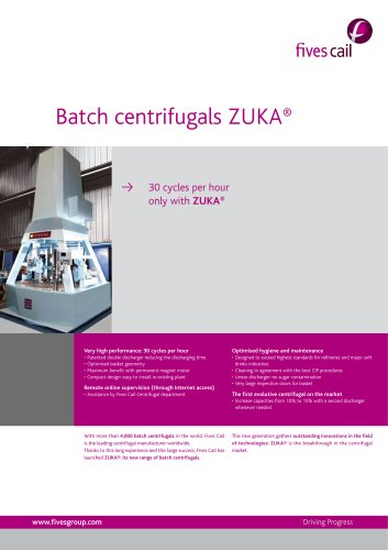 Batch centrifugal ZUKA®
