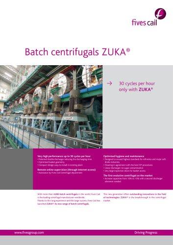 Batch centrifugals ZUKA®