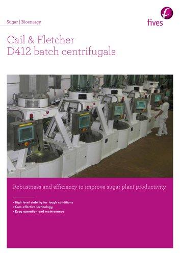 Cail & Fletcher D412 batch centrifugals