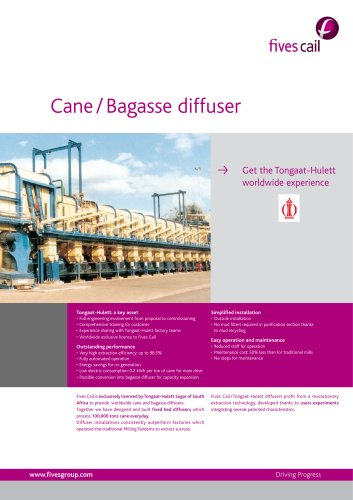 Cane and Bagasse Diffuser