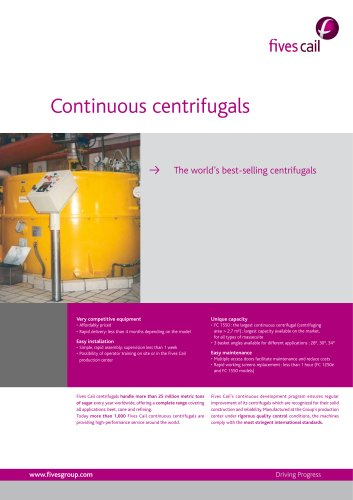 Continuous centrifugal