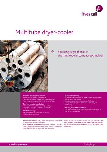 Multitube dryer-cooler