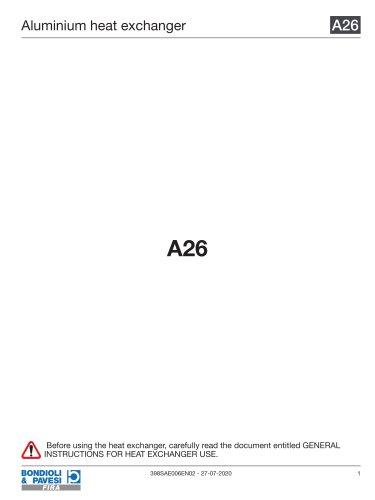 Aluminium Heat Exchanger | A26