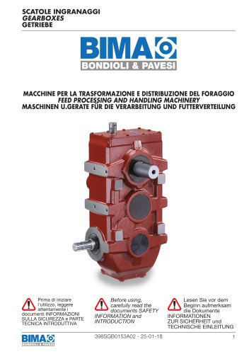 Parallel shaft Gearboxes - Feed Processing and Handling Machinery