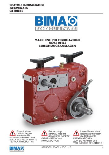 Parallel shaft Gearboxes - Hose Reels