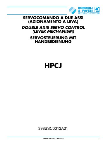 Servocomandi a due assi (azionamento a leva) - HPCJ