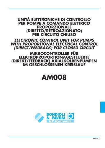 Unita elettroniche di Controllo per Pompe a comando Elettrico Proportionale (Directo/Retroazionato) per Circuito Chiuso
