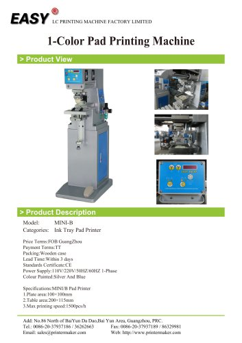 1-Color Pad Printing Machine