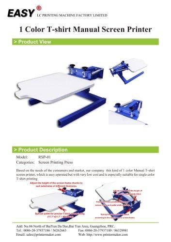 1 Color T-shirt Manual Screen Printer
