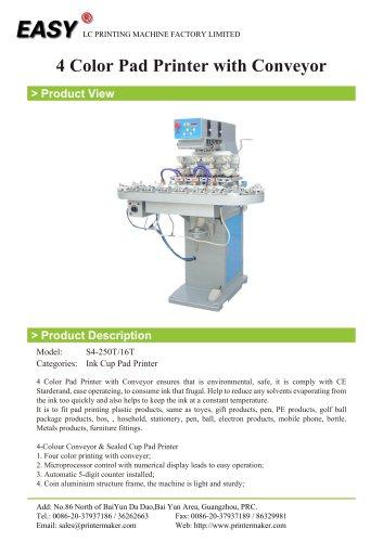 4 Color Pad Printer with Conveyor