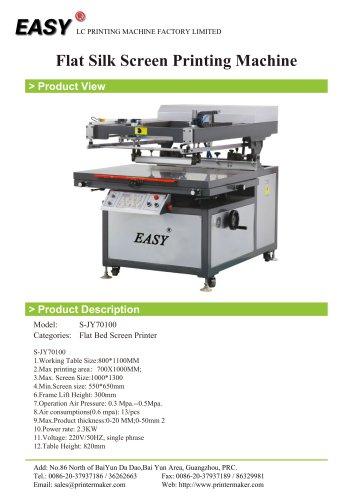 Clam Shell Flat Bed Screen Printing Machine