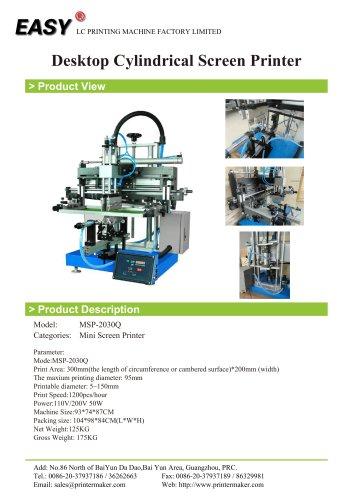 Desktop Cylindrical Screen Printer
