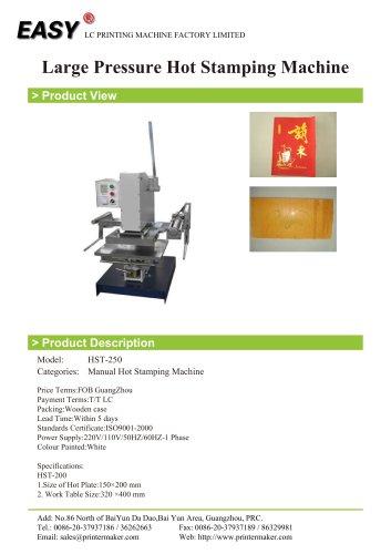 Large Pressure Hot Stamping Machine