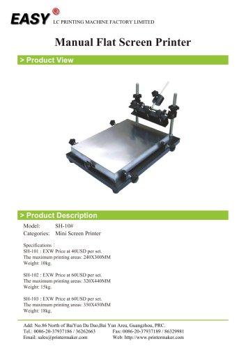 Manual Flat Screen Printer