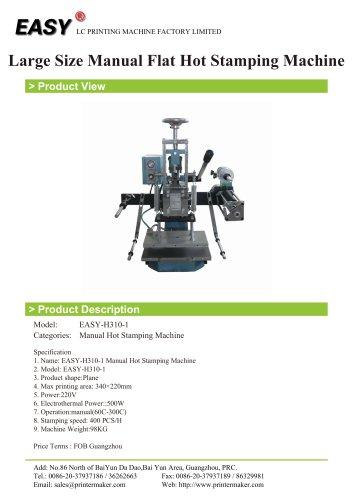 Manual Hot Stamping Machine: Large Size Manual Flat Hot Stamping Machine