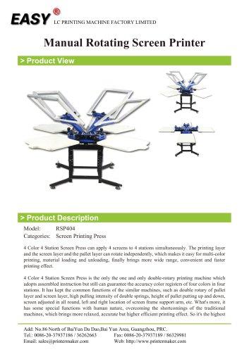 Manual Rotating Screen Printer