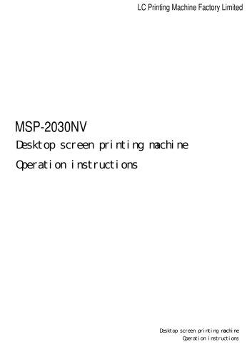 New Desktop Vacuum Screen Printing Machine