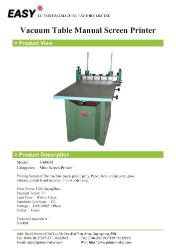 Vacuum Table Manual Screen Printer