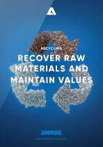 RECOVER RAW MATERIALS AND MAINTAIN VALUES