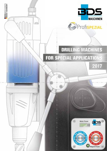 Special Purpose Drilling Machines Catalogue 2017