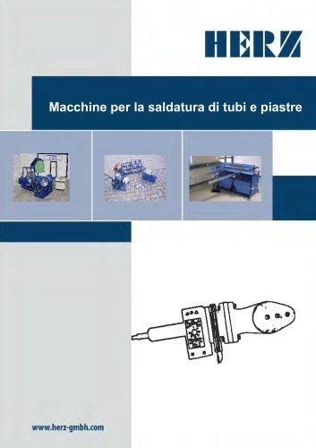 Macchine per la saldatura di tubi e piastre