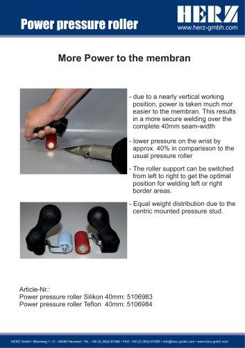 Power pressure roller