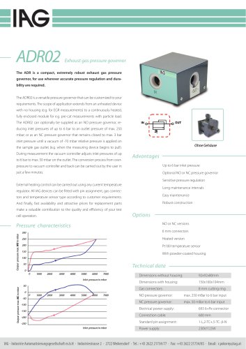 ADR-exhaust gas pressure controller