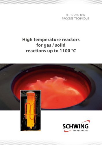 High Temperature reactors for gas / solid reactions up to 1100 °C