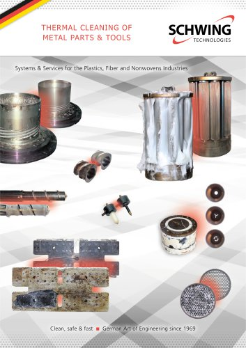 Thermal cleaning of metal parts and tools: INNOVACLEAN, MAXICLEAN, COMPACTCLEAN
