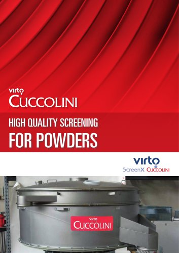 CUCCOLINI MACHINES FOR POWDERS