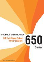 650 Series  DIN Rail Single Output Power Supplies