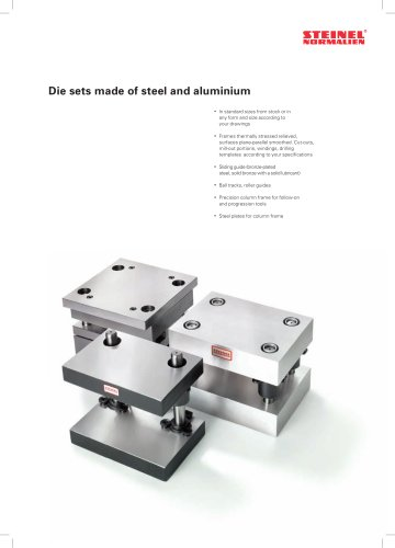 Die sets made of steel and aluminium