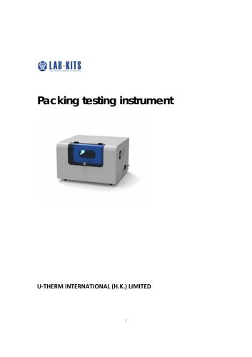 Packing testing instrument