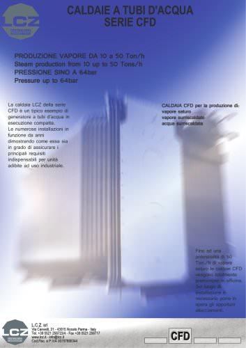 GENERATORE DI VAPORE A TUBI D'ACQUA mod. CFD