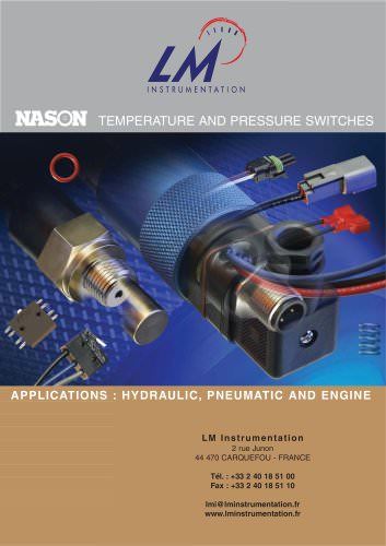 Customized temperature an pressure switches