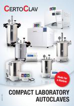 CertoClav Laboratory autoclaves catalog 2021