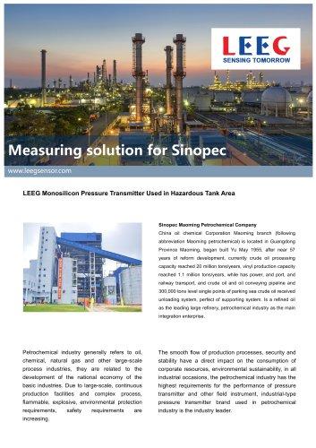 Case study-LEEG Monosilicon Pressure Transmitter Used in Hazardous Tank Area