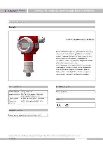 LEEG DMP305X-TCT Anti-corrossive pressure transmitter